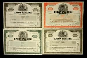 Union Pacific Corporation Stock Certificate