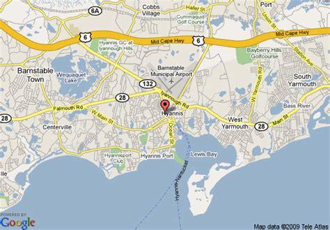 Map Of Hyannis Travel Inn, Hyannis