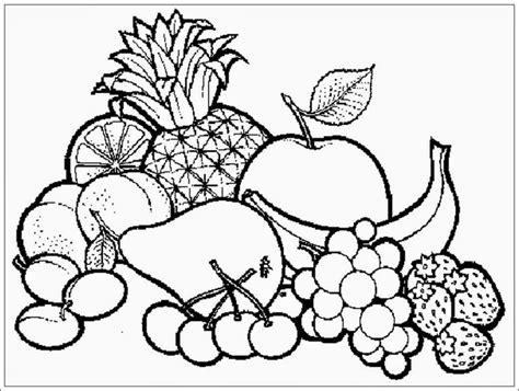 mewarnai gambar buah buahan dalam keranjang mewarnai