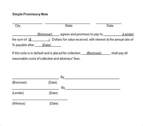 free promissory note template 27 promissory note templates sle templates