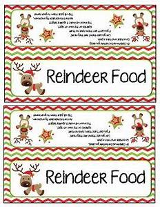 reindeer food letter from santa and bag toppers With santa letter with reindeer food