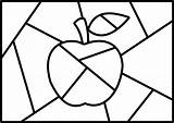 Quilt Crazy Apple Pintura Arte Visitar sketch template