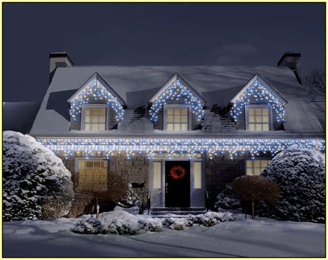 icicle lights on house home design ideas
