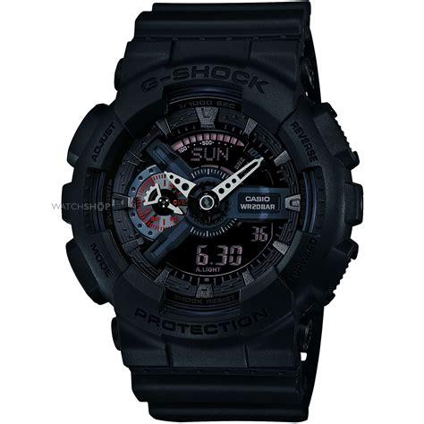 jam tangan gshock ga110 black 39 s casio g shock black alarm chronograph