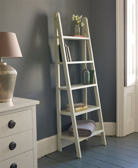 ladder shelf white ladder shelving unit homesfeed