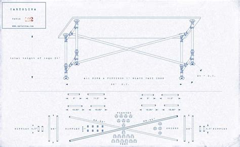 iron pipe desk plans a set of plans for a work table made of cast iron pipe
