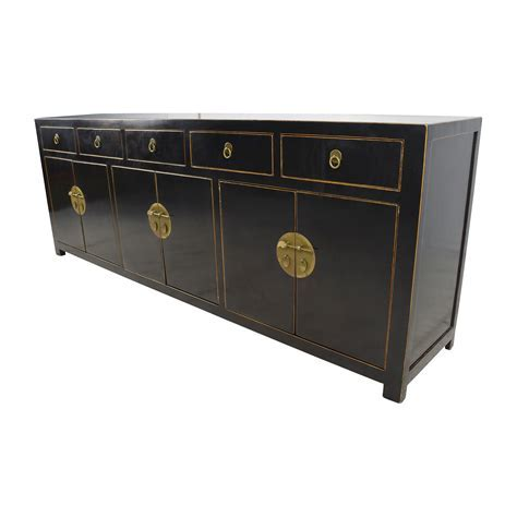 85% OFF   Custom Made Black Drawer and Cabinet Sideboard