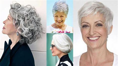 Short Gray Hairstyles for Older Women Over 50 Gray Hair