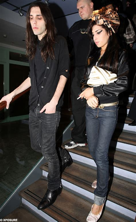 """Amy Winehouse on night out with """"good friend"""" Blake Wood"""
