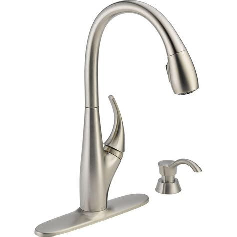 homedepot kitchen faucets delta deluca single handle pull kitchen faucet the