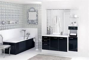 Salle De Bain Noire Et Blanche : d coration salle de bain noire et blanche ~ Melissatoandfro.com Idées de Décoration