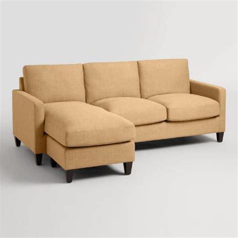 maize textured woven abbott sofa world market