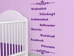 Wandtattoo Baby Mädchen : baby wandtattoo baby lustig wandsticker bei ~ Markanthonyermac.com Haus und Dekorationen