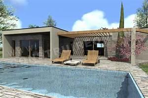 Plan Maison Contemporaine Toit Plat : nos derniers plans de maisons contemporaines ~ Nature-et-papiers.com Idées de Décoration