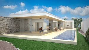 plan dune maison sur un terrain en pente maison moderne With maison sur terrain rectangulaire