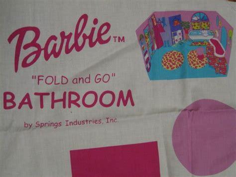 barbie fold   bathroom fabric panel  sew