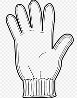 Glove Coloring Clip Winter Gloves Baseball sketch template