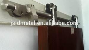 modern wood sliding barn door hardware setbrushed and With barn door floor bracket