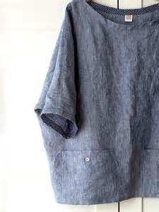 women linen tunic oversized top with pockets linen shirt