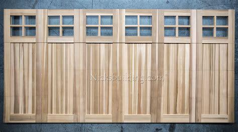 8x7 garage door wood garage doors wooden overhead door paint grade
