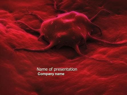 cancer cell cover template cancer cell powerpoint template backgrounds 04381