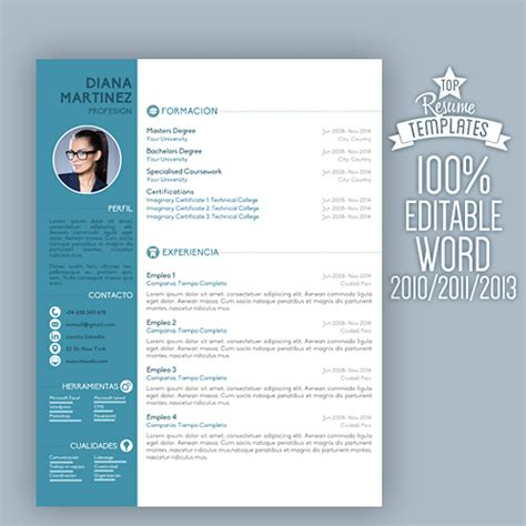 modern creative cv resume template with cover letter
