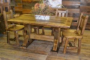 Reclaimed barn wood furniture rustic furniture mall by for Barnwood kitchen table and chairs
