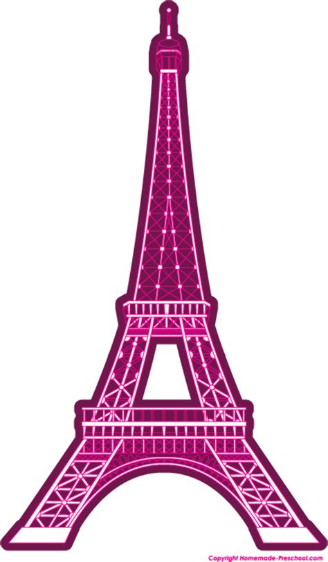 high quality eiffel tower clipart pink