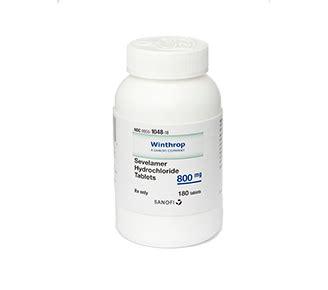 Generic Renvela®, Sevelamer Hydrochloride Tablets 800 mg ...