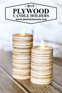 scrap plywood candle holders  house  wood
