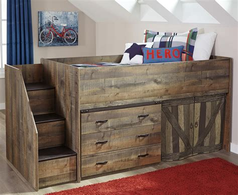 loft bed  stairs  drawer storage  signature