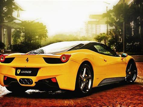 Ferrari Gelb Hd-desktop-hintergrund Hintergrundbilder