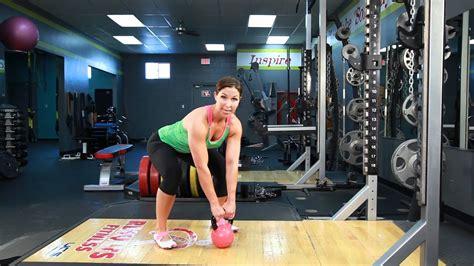 kettlebell swings strong cosgrove rachel sleek swing proper form workout exercises training muscles challenge