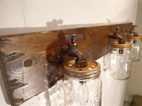 Rustic Bathroom Light Fixtures by Handmade Jar Vanity Light Fixture Country Primitive