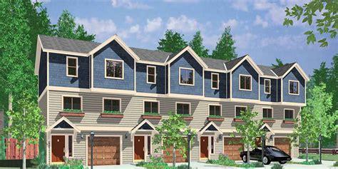 plex plan townhouse plan  unit apartment quadplex