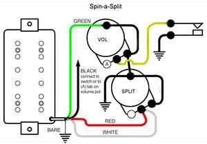 guitar wiring explored the spin a split mod seymour duncan With standard telecaster wiring diagram as well coil tap hss wiring diagram