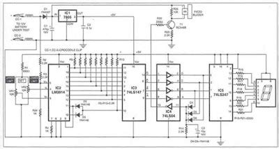 Charge Monitor Lead Acid Battery Electronic Schematic