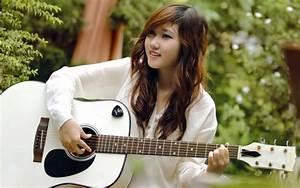 Smile guitar girl, music, asian wallpaper   girls ...