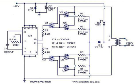 Watt Inverter Circuit Diagram Parts List Design Tips