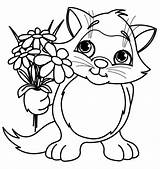 Coloring Flower Pages Spring Print sketch template