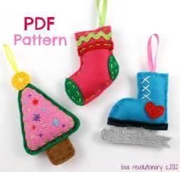 felt christmas by lovahandmade sewing pattern