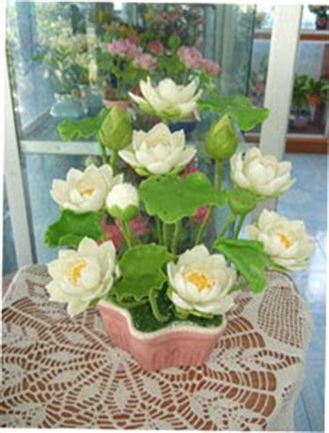 บ้านดอกไม้ประดิษฐ์: ดอกบัวหลวงสีขาว