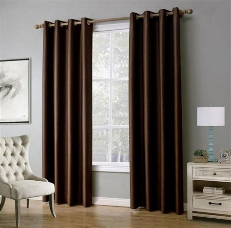 1 solid color window curtains for living room