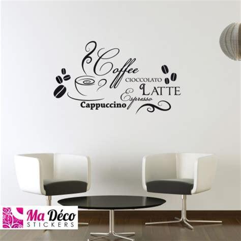 stickers pour cuisine pas cher sticker cappuccino latte pas cher stickers cuisine