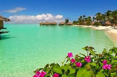 Beach Bora Water Bungalows Exotic Desktop Lagoon