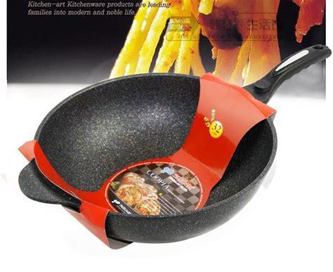 pc korean  cm medical stone coating  stick frying pan embossed aluminum frying pan
