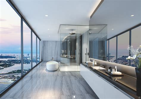 Futuristic Penthouse With Twin Toilets! : Miami Luxury Penthouses