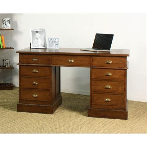 bureau en teck bureau ministre in line en teck en vente chez origin 39 s meubles