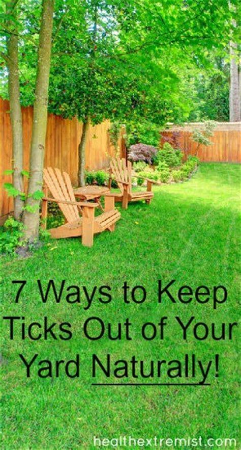 ways   ticks    yard naturally health