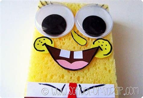 lavoretti spongebob fatto  casa  una spugna